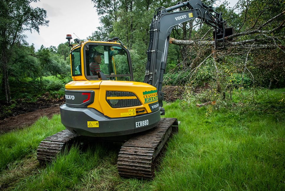 Volvo digs in at the Ceannacroc Estates in Scotland