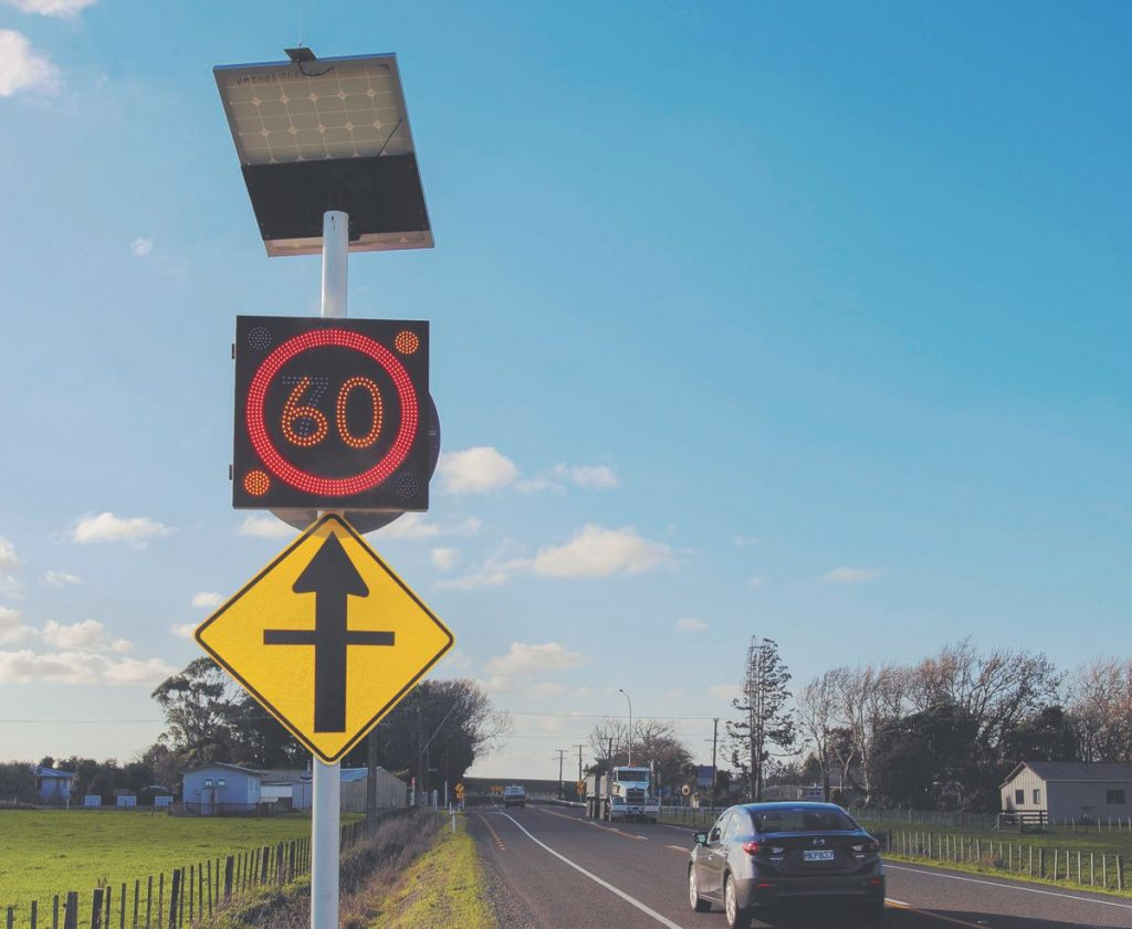 Innovative speed signs coming to New Zealand's Waikato intersections