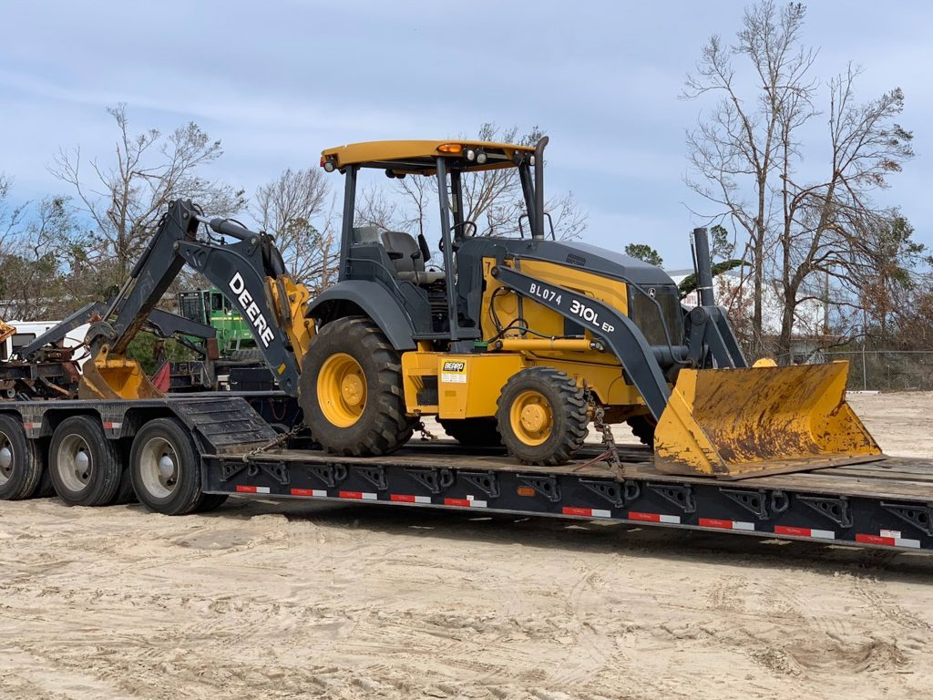 Beard Equipment and John Deere donate backhoes to aid hurricane recovery