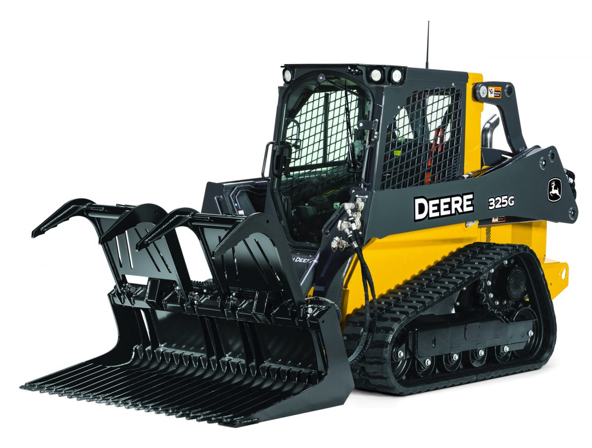 John Deere Grapples pack power and reliability for Job Site clean-up