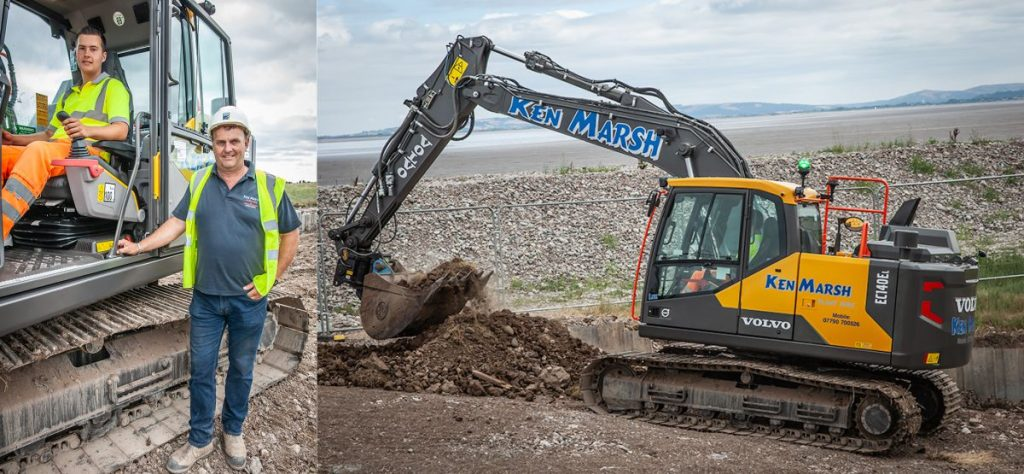 Since setting up his own plant hire and ground working business 13 years ago with a brand new EC160B, proprietor Ken Marsh has reverted to owning a new EC140E thanks mainly to the aftersales support and service he's experienced with SMT GB
