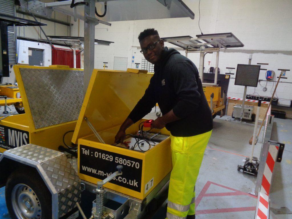 MVIS apprentice technician, Kiran Dawkins