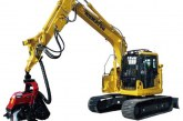 Komatsu at Forest · Forestry · Environmental Machine Exhibition Demonstration in Japan