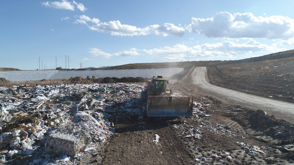 GPS rover and level/slope measuring system help landfill gain 2.3 million yards of space