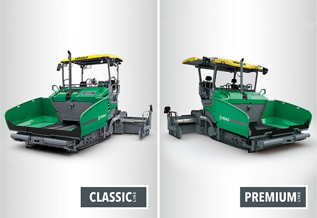 New product classification at VÖGELE: from now on, pavers will be allocated to the new Classic Line or Premium Line, based on whether they feature the ErgoBasic or ErgoPlus operating concept. From basic to premium equipment