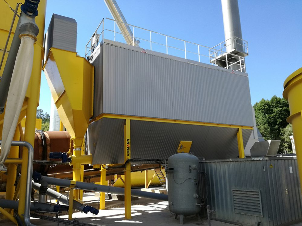 Ammann asphalt plant retrofit protects the environment