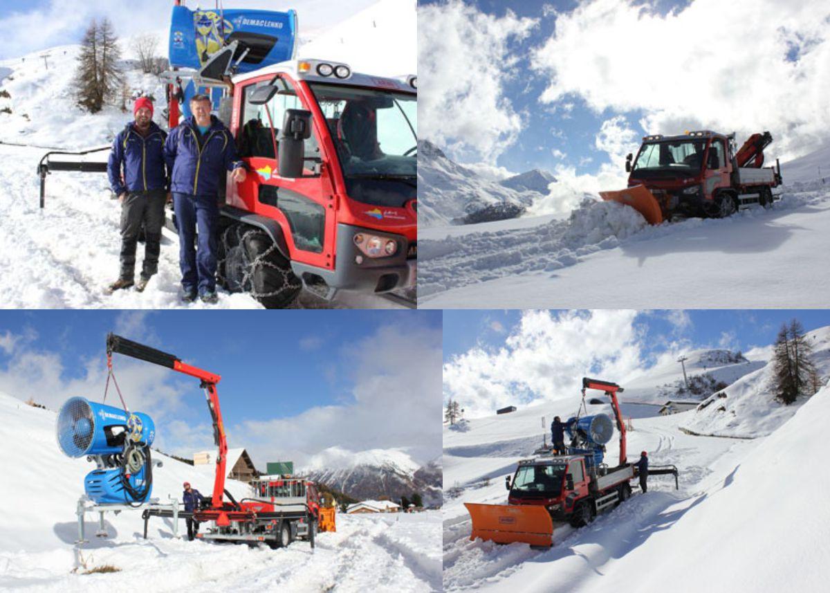 Tending the St Moritz slopes with Aebi's VT450 Vario
