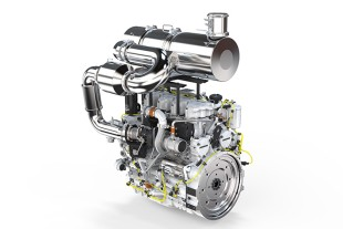 6-cylinder in-line engine by Liebherr with exhaust-gas-after treatment system SCR Filter.