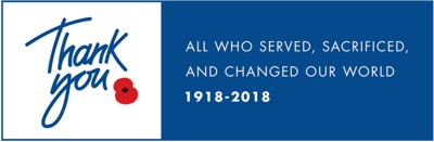 In 2018 The Royal British Legion is leading the nation in saying Thank You to all who served, sacrificed and changed our world.