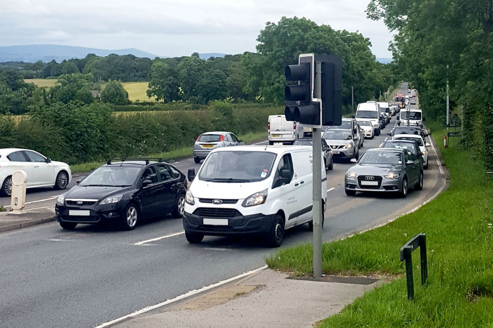 Parts of the existing A585 are frequently congested