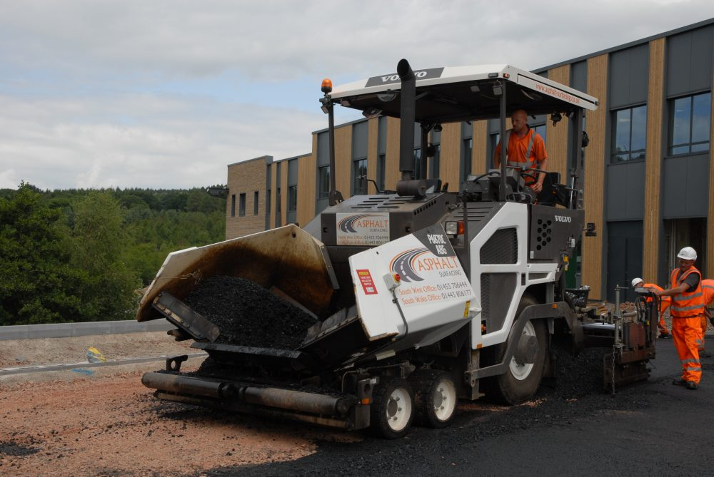 Volvo P6870C is the optimum Paver for Asphalt Surfacing Ltd