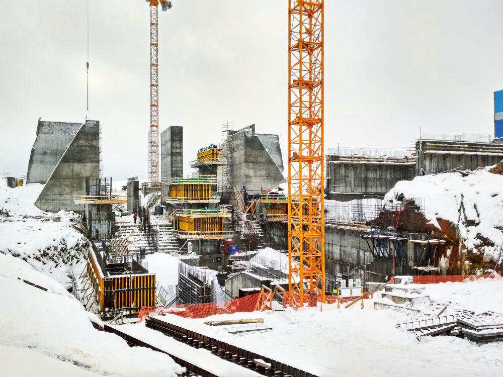 Beloporozhskaya hydropower station - electricity for the Republic of Karelia - The 50 MW Beloporozhskaya hydropower station is under construction in the Republic of Karelia in north-western Russia. The power station is scheduled to start generating electricity in autumn 2019. The hydropower station is shaping up steadily, thanks partly to Dam formwork D22.
