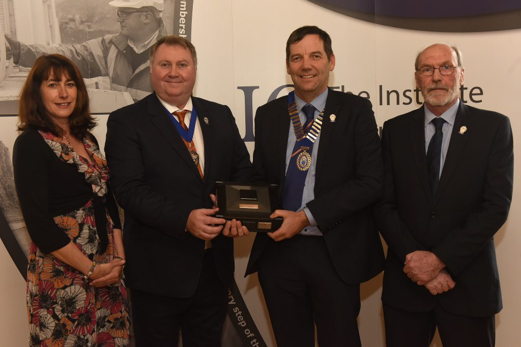 L to R: Anne Smith (IQ Scottish Branch Treasurer); Phil Redmond (IQ President); Andrew Gillon (IQ Scottish Branch Chairman); Ian Christie (IQ Scottish Branch Secretary).