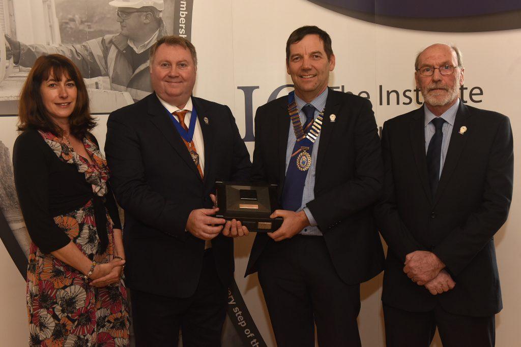L to R: Anne Smith (IQ Scottish Branch Treasurer); Phil Redmond (IQ President); Andrew Gillon (IQ Scottish Branch Chairman); Ian Christie (IQ Scottish Branch Secretary).