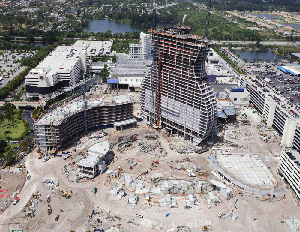 The Hard Rock Hotel & Casino now under construction in Hollywood, Florida, will be the world's first guitar-shaped building.