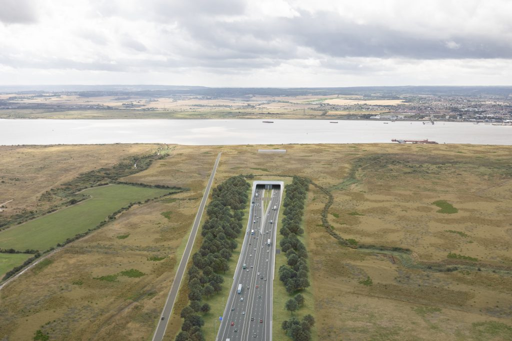 ow the northern portal of the Lower Thames Crossing, in Essex, will look
