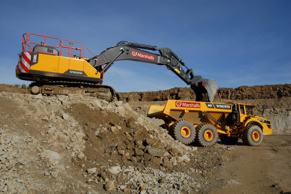 Howley Park Quarry opts for the flexibility of a Volvo Construction package