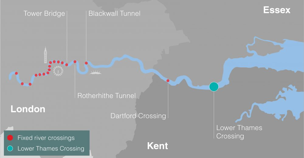The Lower Thames Crossing will be the first new road link across the Thames since the Queen Elizabeth II Bridge opened at Dartford in 1991