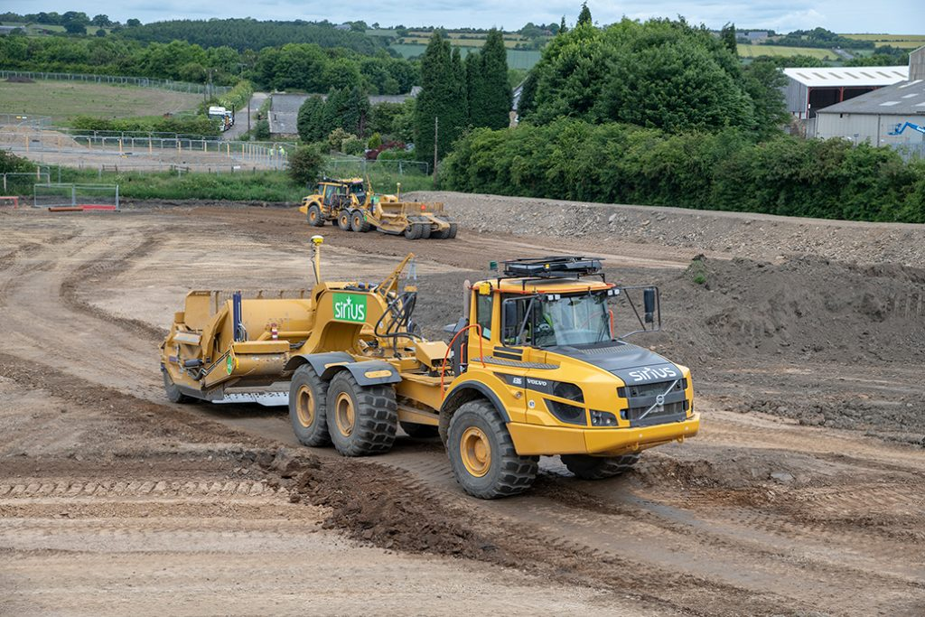Volvo moves the Earth for the Sirius Group