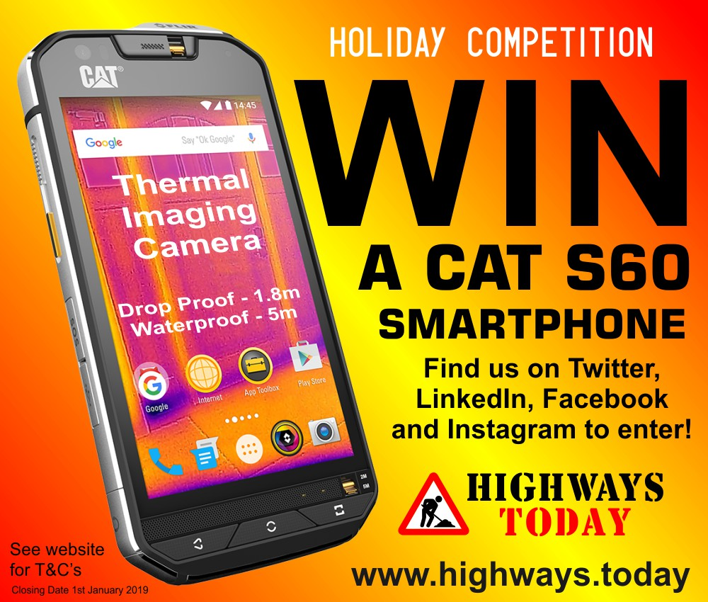Highways.Today Holiday Competition - WIN a CAT S60 Smartphone.