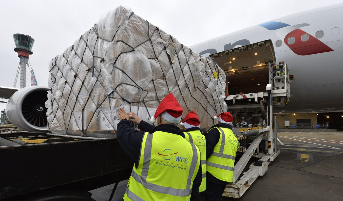 Heathrow Cargo stockings full to the brim