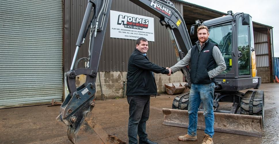 Holmes Plant and Construction invests in seven new easy to use Volvo compact excavators