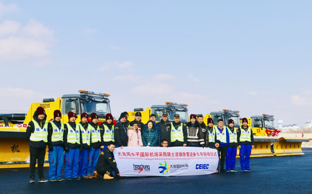 Boschung delivers 12 winter maintenance vehicles to Dalian Zhoushuizi Airport in China
