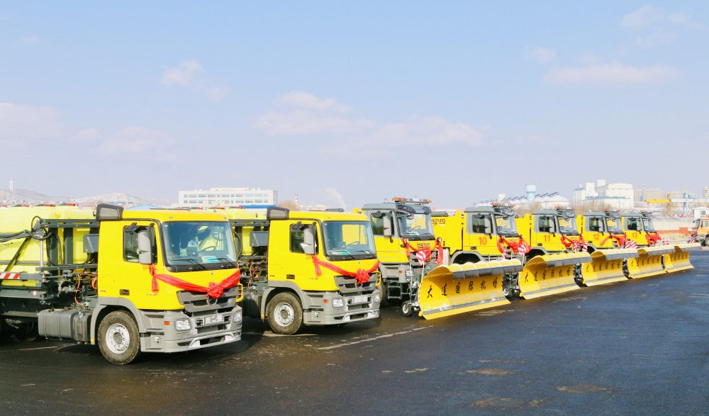 Boschung delivers 12 winter maintenance vehicles to Dalian Zhoushuizi Airport in China