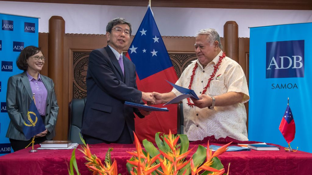 ADB President meets Samoa Prime Minister to discusses infrastructure development