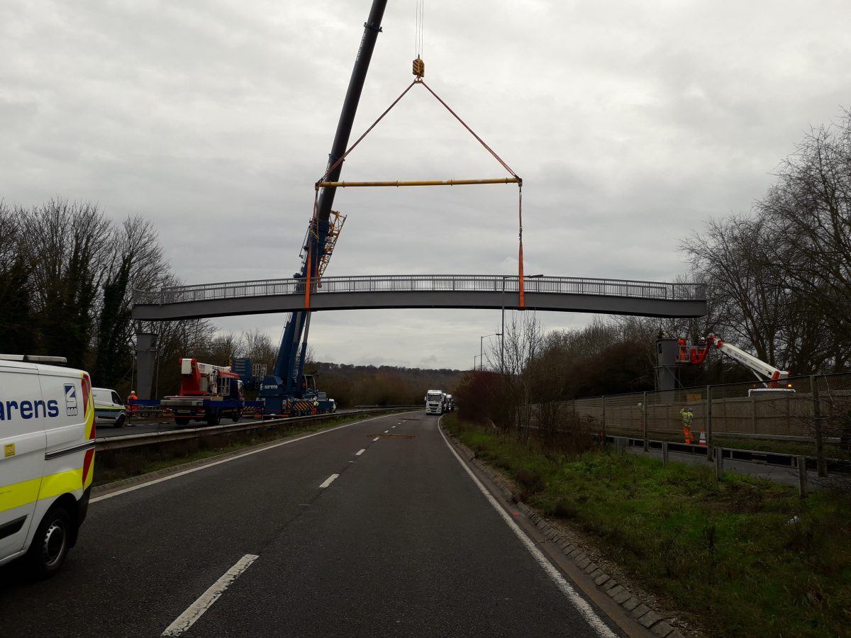 Highways England reopens A404 near Marlow following bridge installation