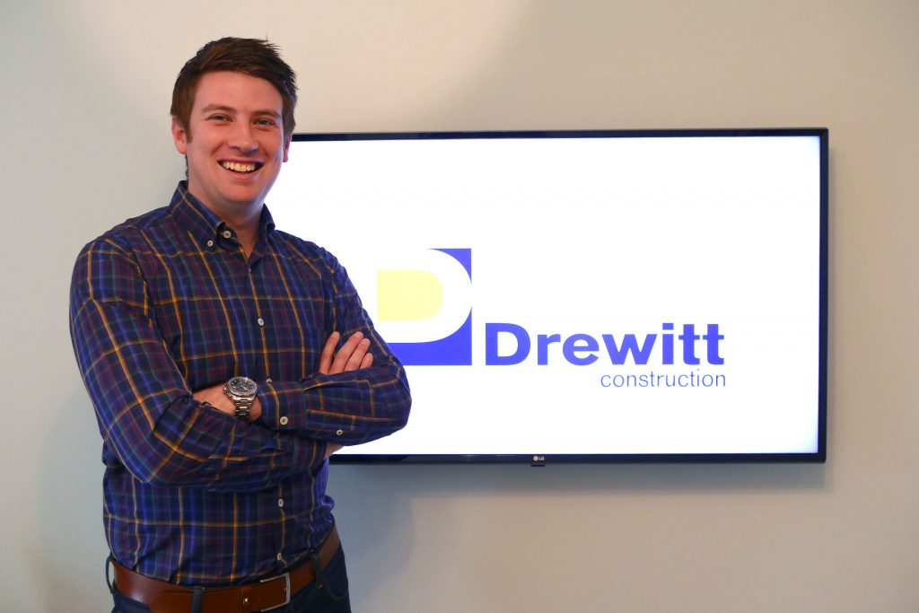 Alex Drewitt, founder of Drewitt Construction, based in the West Midlands