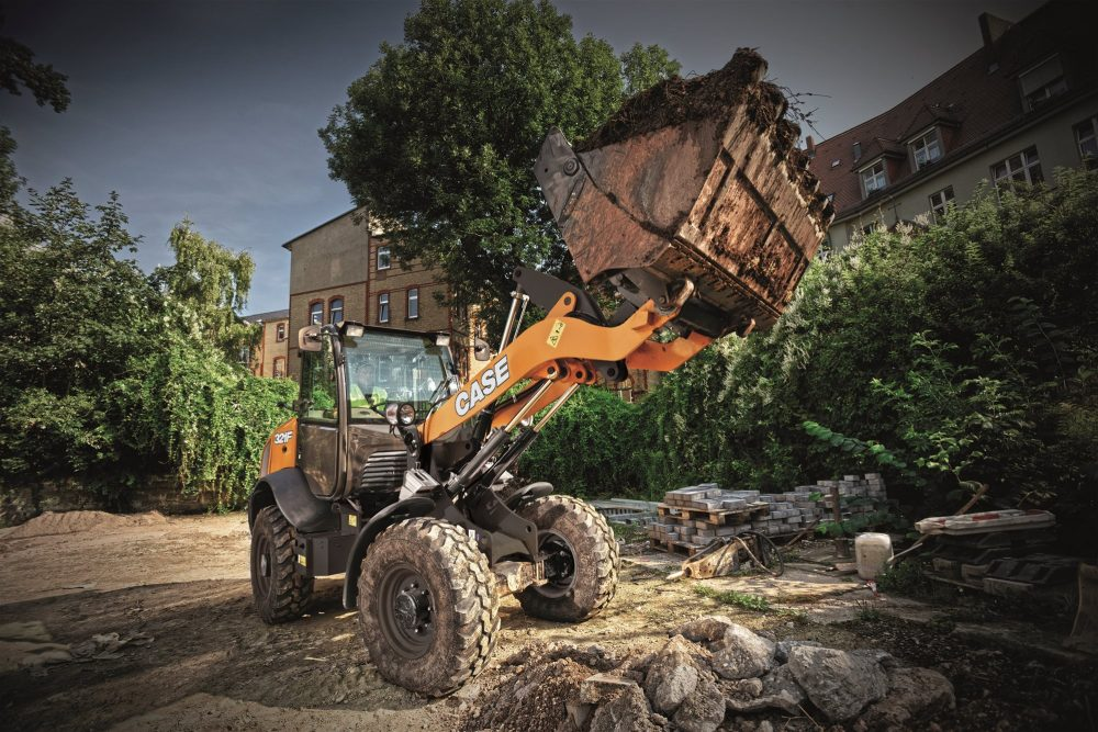 CASE features new compact wheel loaders with electrohydraulic controls at bauma
