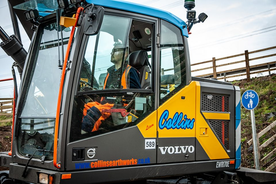 Collins Earthworks rewards their top machine operator with a VolvoCE EWR170E Excavator