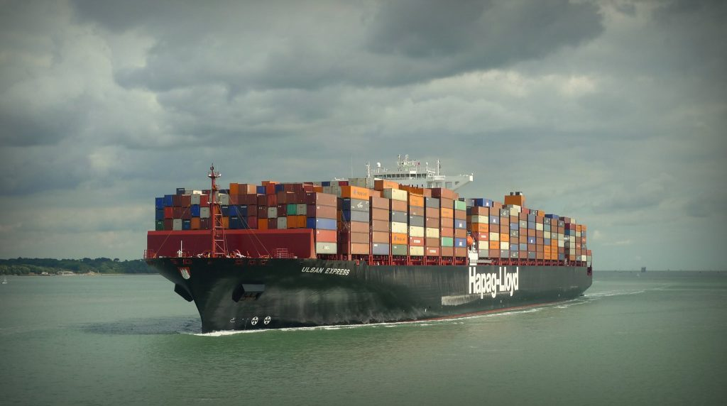 Container Ship - Photo by Henry Burrows