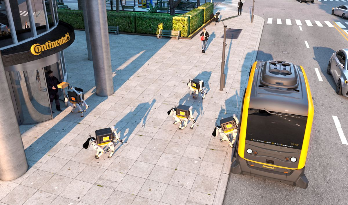 Continental's vision combines autonomous shuttles and delivery robots