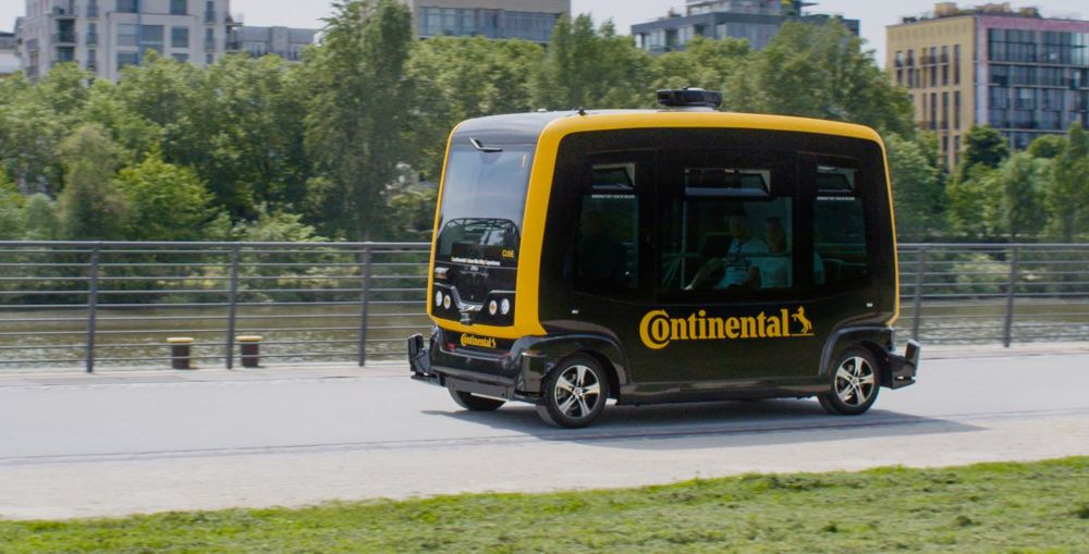 Continental's Vision: Seamless Mobility Combines Autonomous Shuttles and Delivery Robots