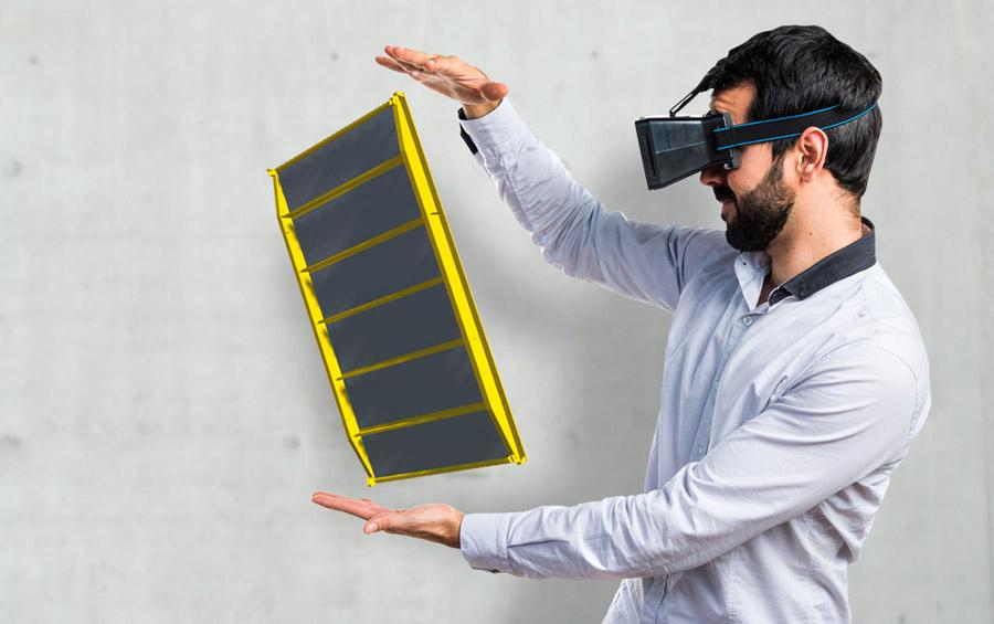 The Doka AR-VR app enables customers to experience selected Doka solutions in augmented and virtual reality. Photo: Doka