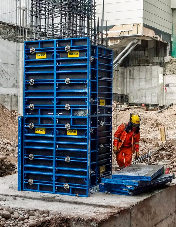 Framini, the new framed formwork, combines speed, versatility and durability. Photo: Doka