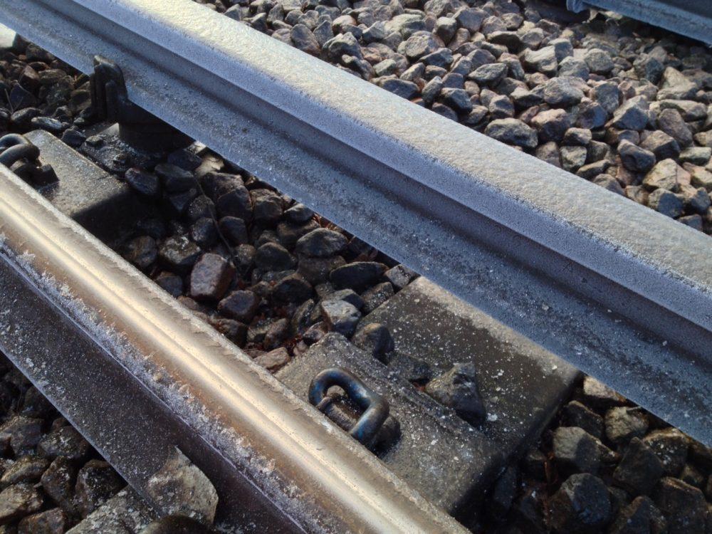 Iced up rails