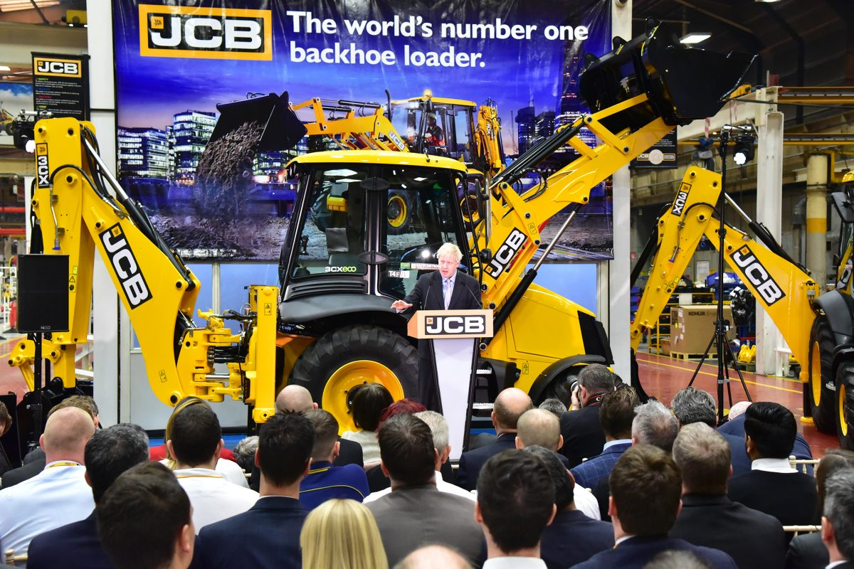 Boris Johnson MP chooses the JCB factory for his keynote speech