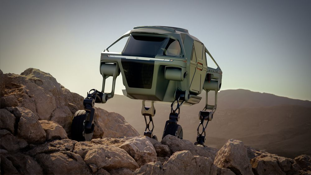 The Hyundai Elevate demonstrates its mammalian walking gaits.