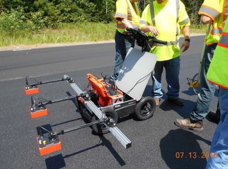 Maine DOT uses GPR Tech to ensure optimum pavement density throughout pavement layer