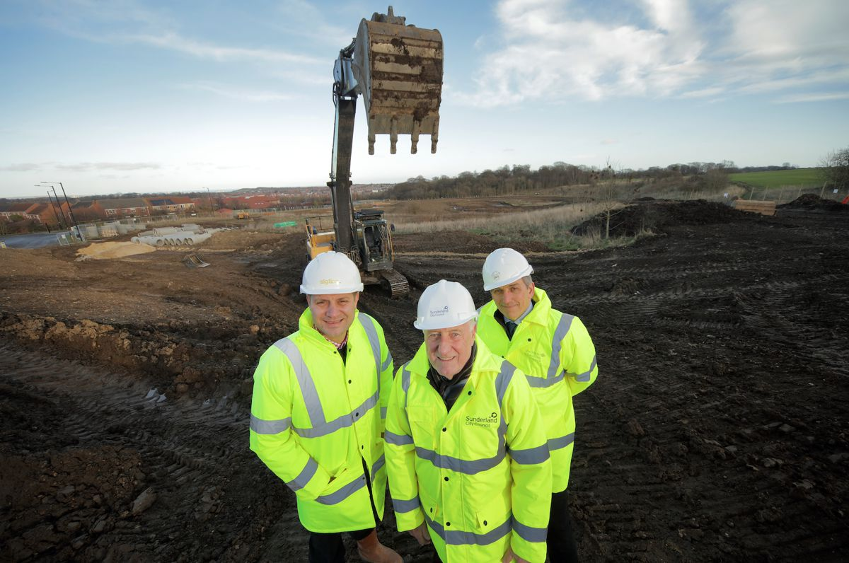 New phase of major Sunderland housing development at Potters Hill begins