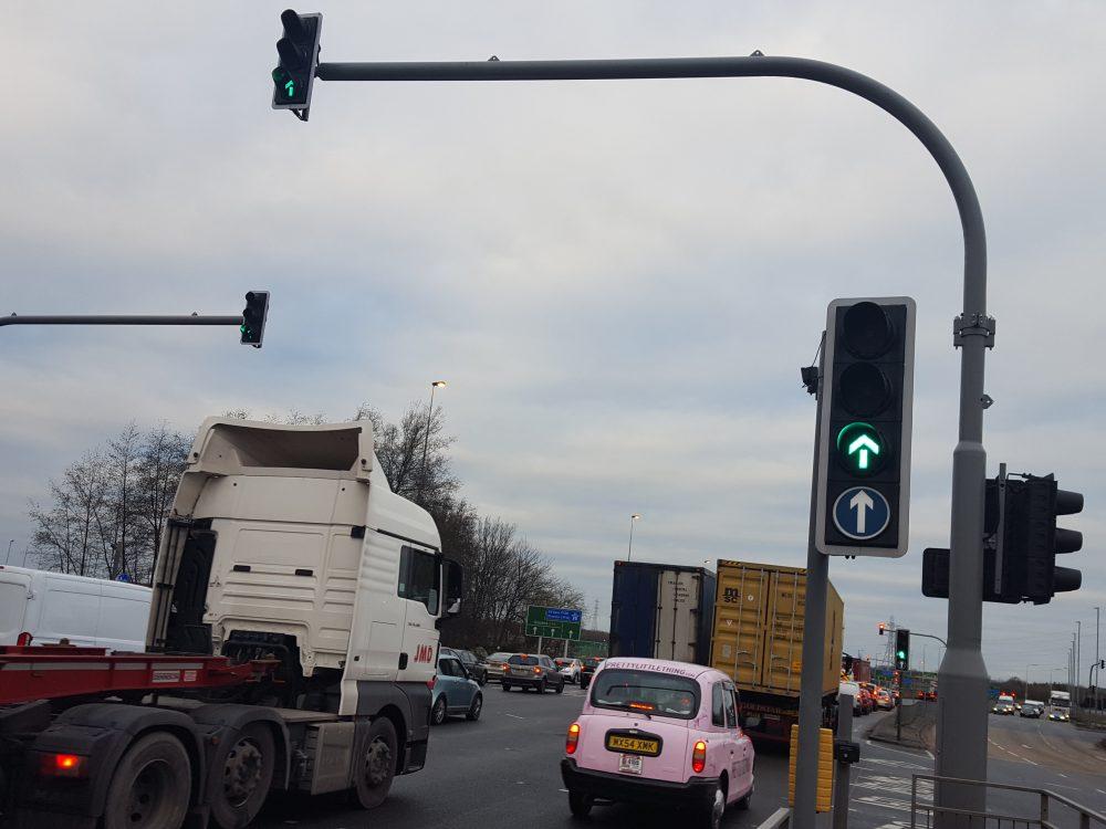 Switch Island traffic lights