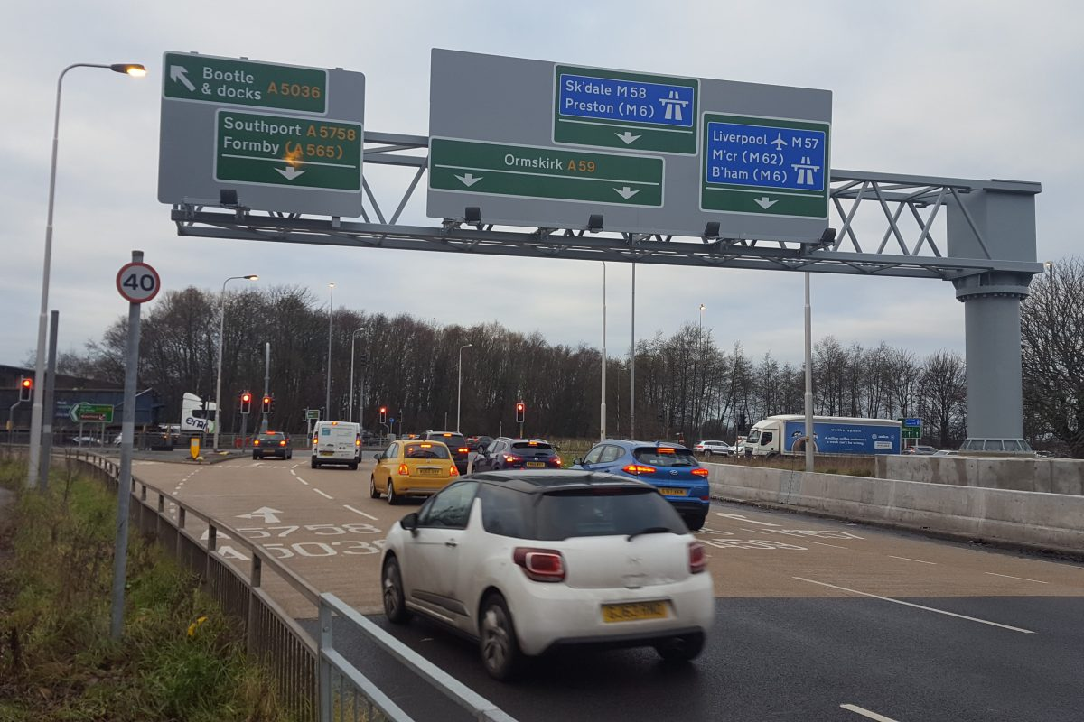 Merseyside motorway junction upgrade completed six weeks early