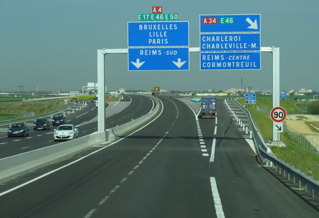 The A4 in France