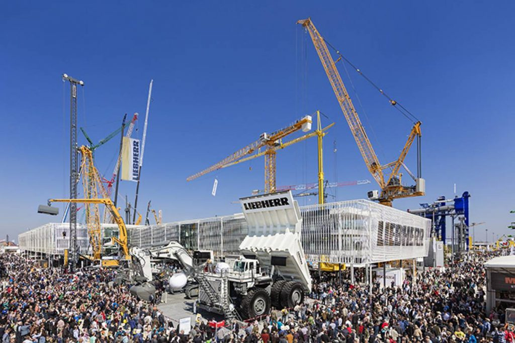The Liebherr Group's stand at Bauma 2016.