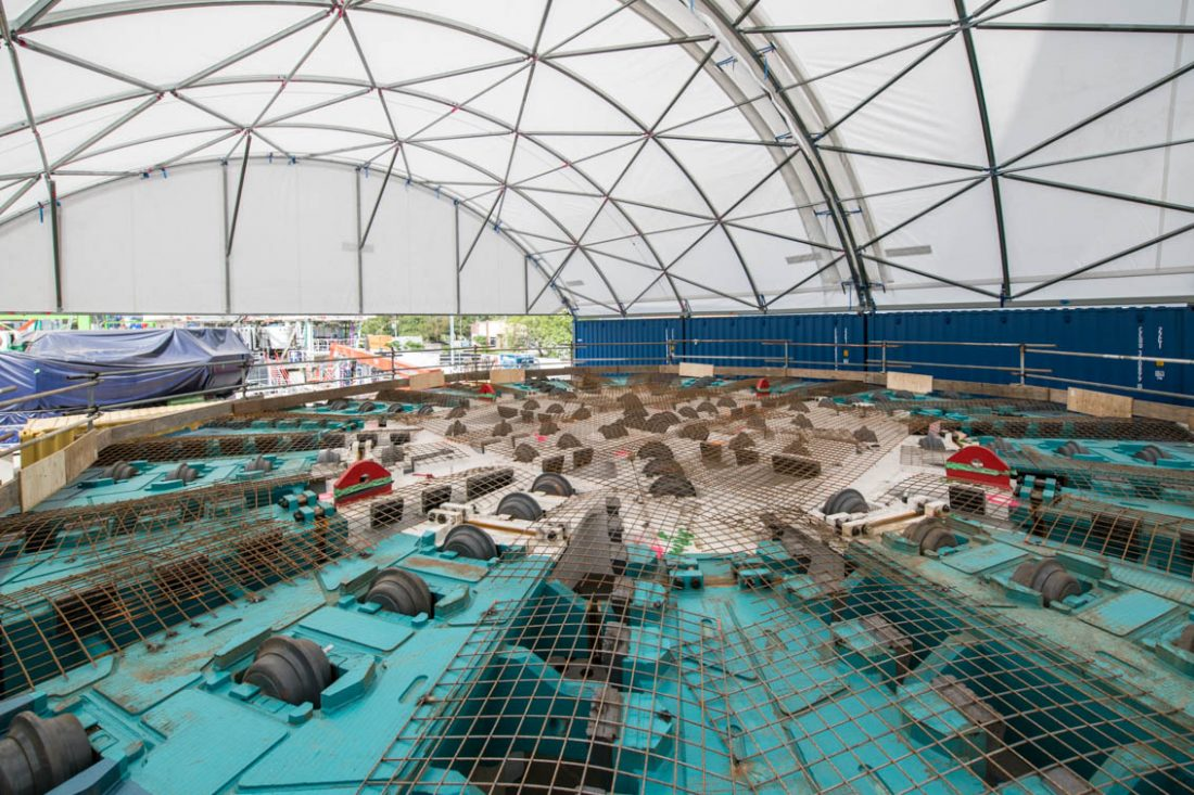 Massive Tunnel Boring Machine is taking shape in Brisbane for West Gate Tunnel