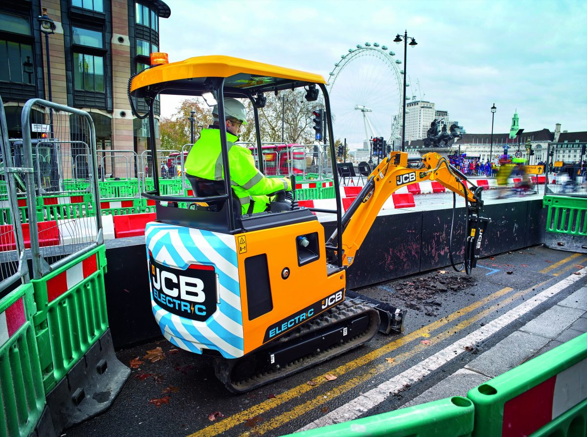 JCB powers ahead with the launch of the 19C-1E electric excavator
