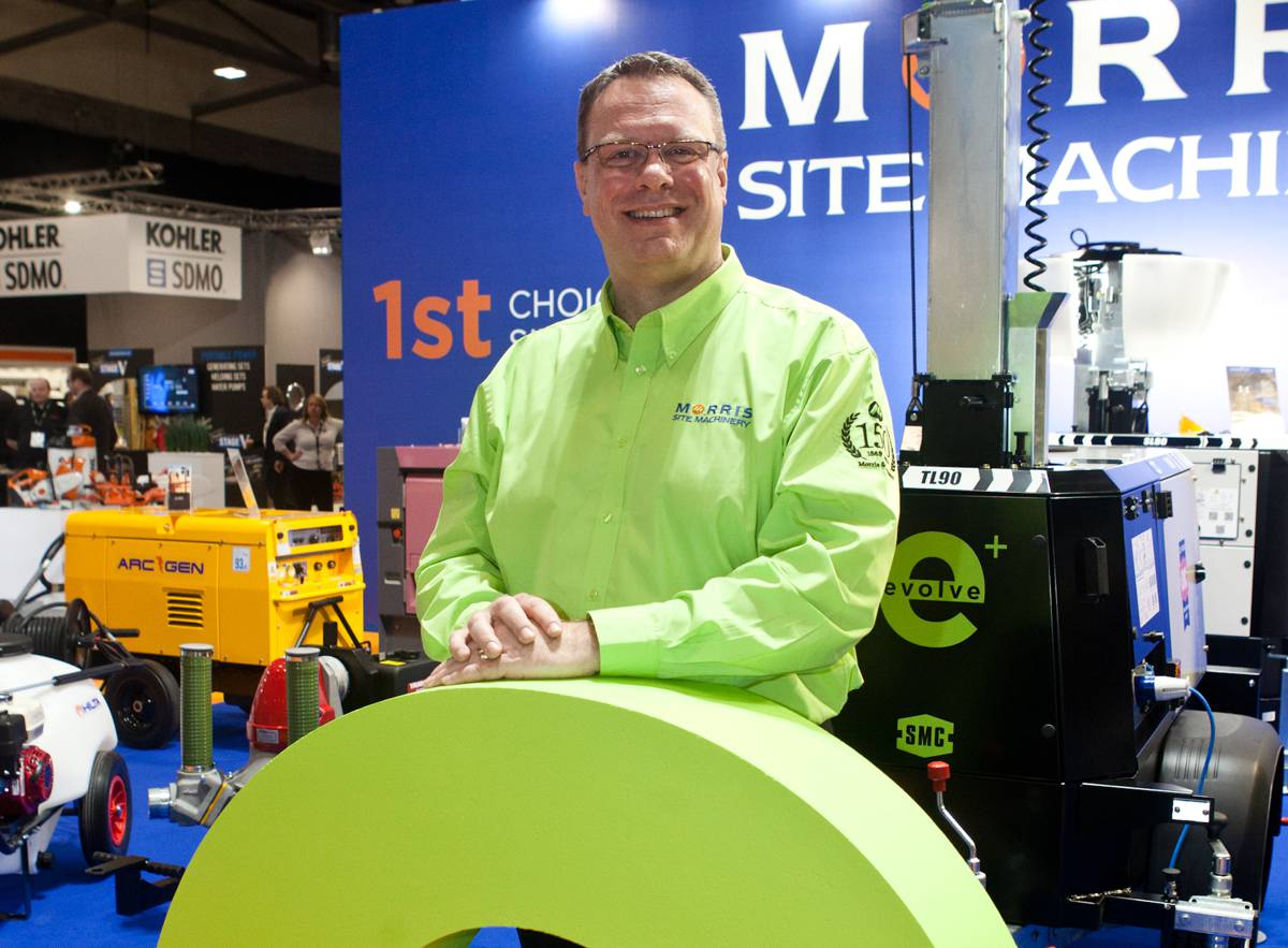Morris Site Machinery debuted their shining stars at the Executive Hire Show